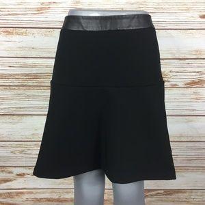 Ann Taylor Faux Leather Trim Skirt 4